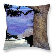 On The West Rim Of The Grand Canyon Throw Pillow