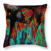 On The Wild Side Throw Pillow