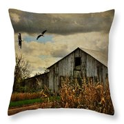 On The Wings Of Change Throw Pillow