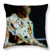 On The Wings Of Dragonflies Throw Pillow