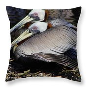 On Their Nest Throw Pillow