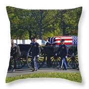 On Their Way To Rest Throw Pillow