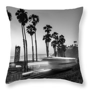 On Time Black And White Throw Pillow