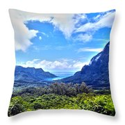 On Top Of Moorea Throw Pillow