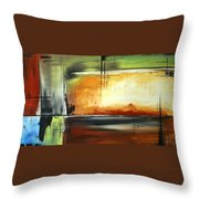 On Track Original Madart Painting Throw Pillow