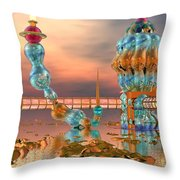 On Vacation Throw Pillow