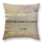 On Vacation Quote Throw Pillow