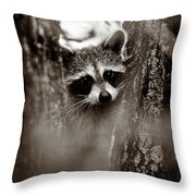 On Watch - Sepia Throw Pillow