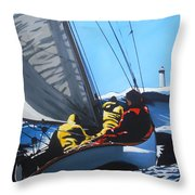 On White Horses Throw Pillow