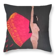 On Wings Of Creation Throw Pillow