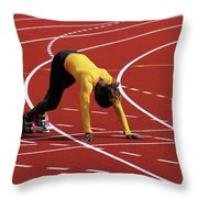Track And Field 1 Throw Pillow