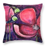 Once I Was In A Garden Filled With Poppies Throw Pillow
