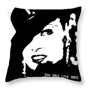 Once Is Enough Throw Pillow