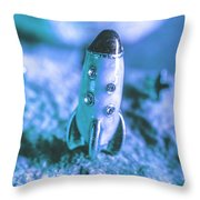 Once On A Blue Moon Throw Pillow