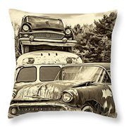 Once Shiny Dreams - Sepia Throw Pillow