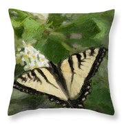 Once There Was A Butterfly Throw Pillow