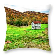 Once Upon A Mountainside 2 - Paint Throw Pillow