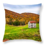 Once Upon A Mountainside Throw Pillow