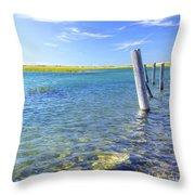 Once Upon A Pier Throw Pillow
