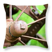 Once Upon A Wheel Throw Pillow