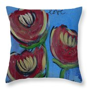 Once Upon A Yoga Mat Poppies 2 Throw Pillow