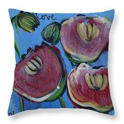 Once Upon A Yoga Mat Poppies 3 Throw Pillow
