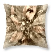 Once Upon Grandmom's Poinsettia Throw Pillow