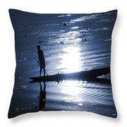 Once Upon In A Moonlit Night Throw Pillow