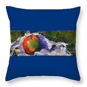 One Apple Throw Pillow