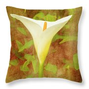 One Arum Lily Throw Pillow
