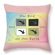 One Bird Poster And Greeting Card V1 Throw Pillow