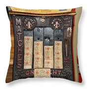 One Cent Matches Throw Pillow