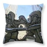 One Chase Manhattan Plaza 3 Throw Pillow