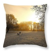 One Cold Morning Throw Pillow