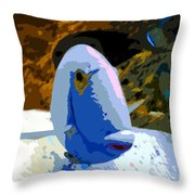 One Colorful Fish Throw Pillow