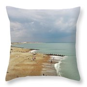 One Cool Beach Day  Throw Pillow