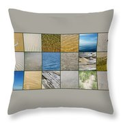 One Day At The Beach  Throw Pillow by Michelle Calkins