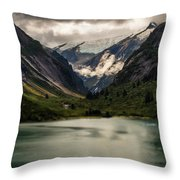One Day In The Alaskan Wilderness Throw Pillow