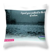 One Day Picnic Spot Near Khadakwasla- Masti Ka Cool Station Splendour Country Throw Pillow