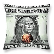 One Dollar - Not What It Used To Be Throw Pillow