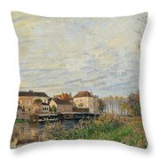 One Evening At Moret End Of October Throw Pillow