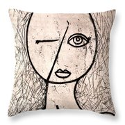 One Eye Throw Pillow