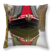 One Eyed Boat Throw Pillow