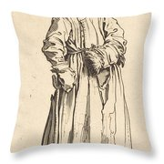 One-eyed Woman Throw Pillow