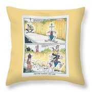 One Fine Tuesday Last June Throw Pillow