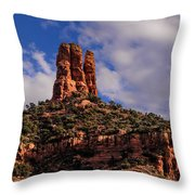 One Finger Shy Throw Pillow
