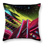 One Flight Up Throw Pillow
