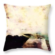 One Gull Left Throw Pillow