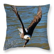 One Hand Grab Throw Pillow