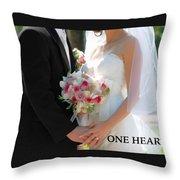 One Heart #2 Throw Pillow